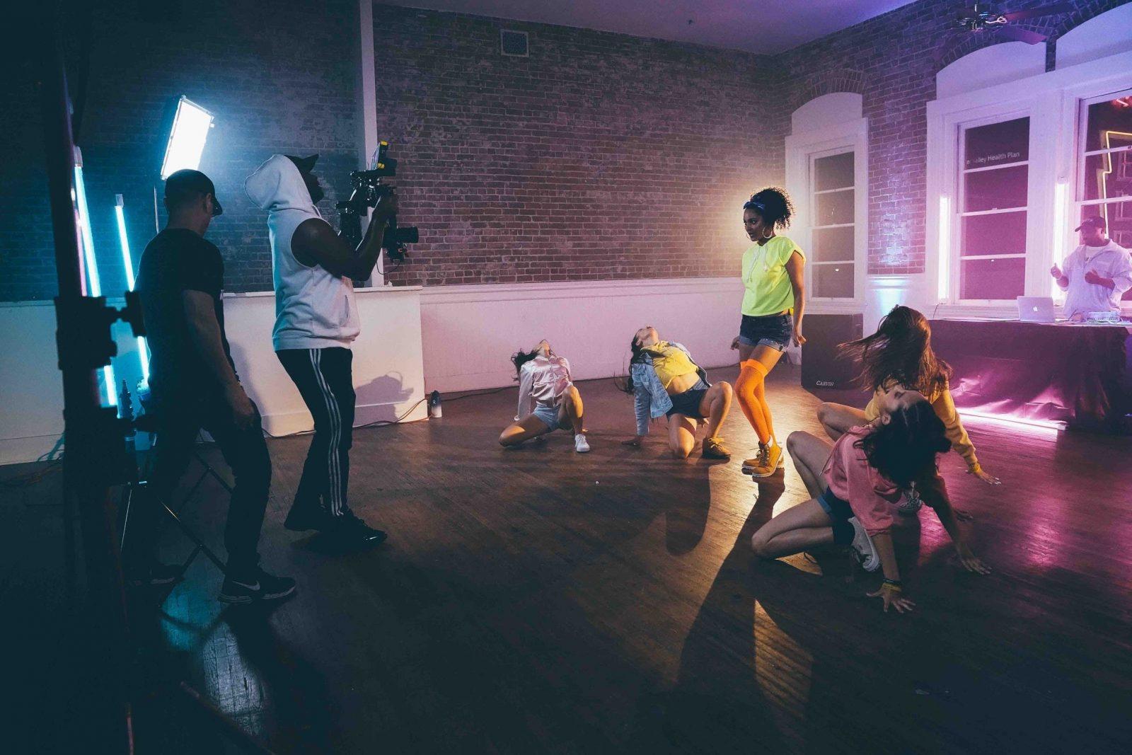 studio space dance shoot
